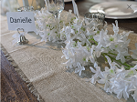 68inch long White Artificial flower garland